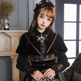 Steampunk Lolita Dress Poker Card Printed Long Sleeve Dress by YLF