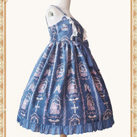 The Unicorn in Fairytale ~ Sweet Printed High Waist Lolita JSK Dress w. KC by Infanta