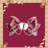 Bell & Beast ~ Sweet Bow Brooch Lolita Accessory w. Chain by Infanta