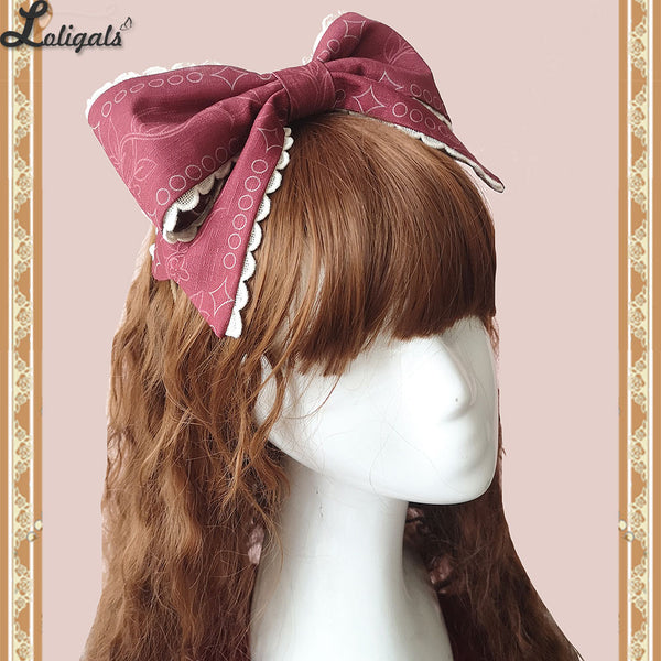 Holly School ~ Sweet Lolita Bow Hairband by Infanta