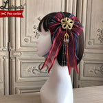 Magpies Leaving the Branch ~ Vintage Lolita Headbow by Alice Girl ~ Pre-order