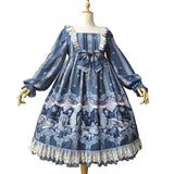Broken Doll ~ Vintage Long Sleeve Lolita Dress High Waisted Party Dress by Infanta