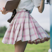 Japanese Style Pleated Short Skirt JK School Uniform Girl's Mini Skirt