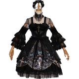 Skull & Butterfly ~ Gothic Sheer Sleeve Lolita Dress Gorgeous Party Dress by YLF