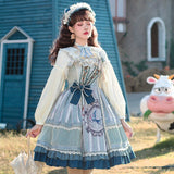 Birds in Mirror ~ Country Style Lolita Dress Retro Dress by YLF