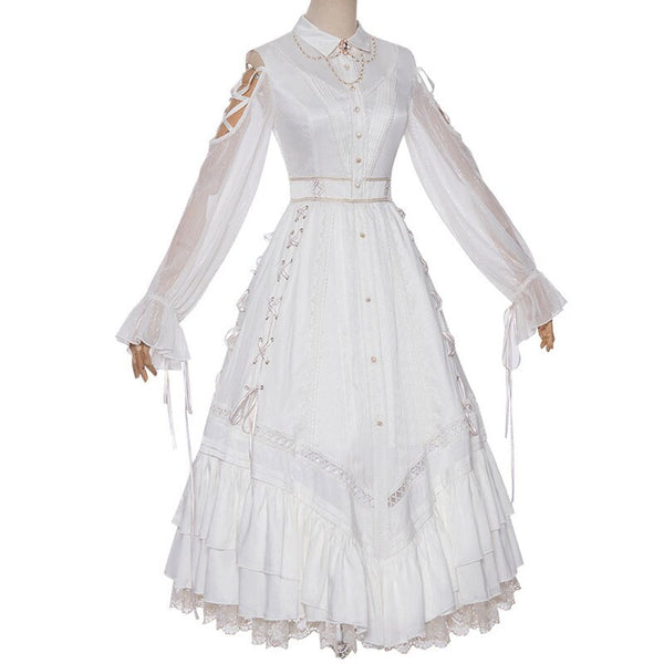 Sacrificial Ceremony ~ Classic Long Lolita Dress Elegant Maxi Party Dress by YLF