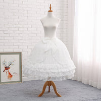 Super Puffy Adjustable Lolita Petticoat A line Ruffled Underskirt with Bow