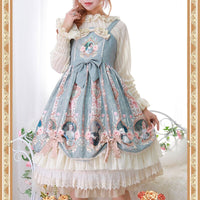 Lady's Portrait ~ Sweet Printed Lolita JSK Dress Midi Party Dress by Infanta
