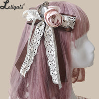 Sweet Lolita Bow Brooch/ Hair Clip with Rosette by Infanta