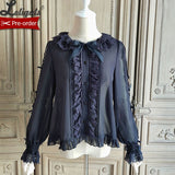 Kitten's Tea Party ~ Sweet Women's Long Sleeve Blouse by Alice Girl ~ Pre-order