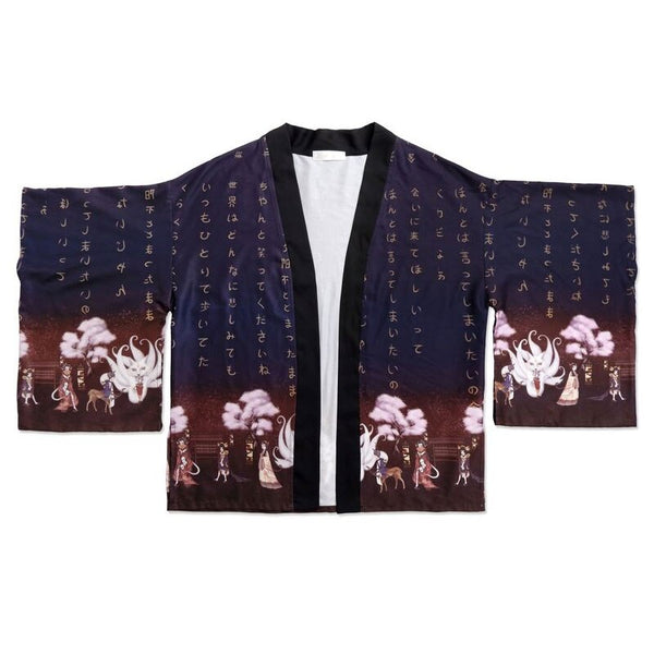 The Mountain Spirit ~ Qi Wa Printed Kimono Cardigan Loose Lolita Top by Mitsuba