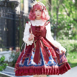Countess Cat ~ Sweet Printed Lolita JSK Dress Midi Party Dress
