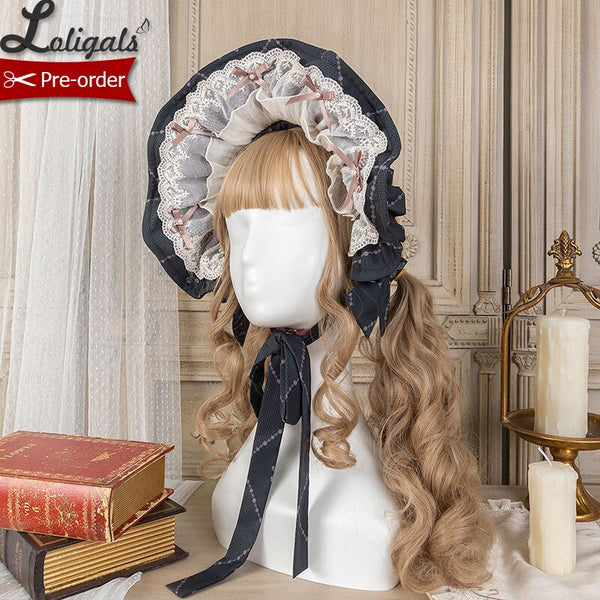Lady's Room ~ Sweet Lolita Bonnet Hat by Alice Girl ~ Pre-order