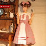 Cherry in May ~ Sweet Checkered Lolita JSK Dress by Magic Tea Party ~ Pre-order