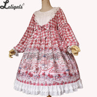 Tea Party in Forest ~ Sweet Printed Long Sleeve Lolita Dress by Infanta