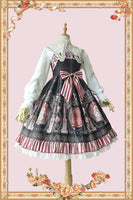 Holly School ~ Cross Printed Lolita JSK Dress by Infanta