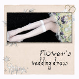 Flower's Wedding Dress ~ Sweet White Lolita Long Socks for Summer
