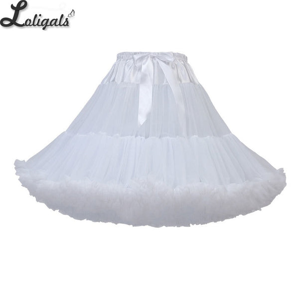 Soft Adult Women's Tutu Skirt 55cm Lolita Petticoat Ballet Party Dance Skirt