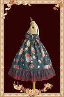 Christmas Donut ~ Sweet Printed Lolita Dress High Waisted Casual Summer Dress by Infanta