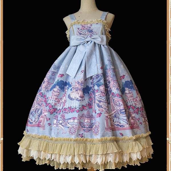 Cinderella ~ 2020 Sweet Printed Lolita JSK Dress by Infanta