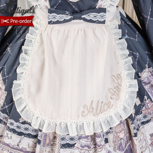 Lady's Room ~ Embroidered Lolita Apron by Alice Girl ~ Pre-order