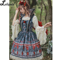 Poisoned Apple ~ Gothic Printed Lolita JSK Dress by Infanta