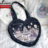 Lady's Room ~ Heart Shaped Shoulder Bag by Alice Girl ~ Pre-order