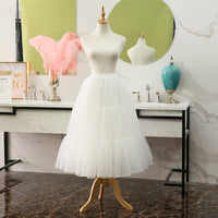 Long Hoopless Lolita Petticoat Mesh Casual Cosplay Underskirt