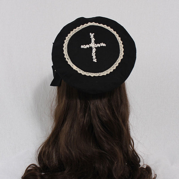 The Choir ~ Sweet Lolita Beret Cap Cross Berets Hat by Alice Girl