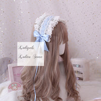 The Goddess of Love ~ Sweet Lolita Headband Ruffled Lace Hairband with Clip