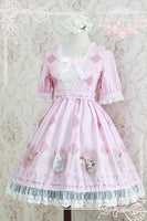 Sweet Short Sleeve Lolita Dress The Forest Song Series Printed Lolita OP Dress