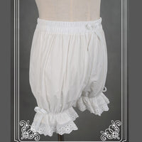 Sweet Cotton Lolita Shorts/Bloomers with Lace Trimming