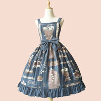 Graduation Season ~ Sweet Printed Lolita JSK Dress Casual Party Dress by Infanta