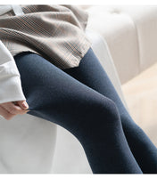 2019 Autumn Winter Compression Tights 800D Warm Thick Fleece Lined Pantyhose
