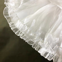 Black/White Adjustable Lolita Petticoat A line Ruffled Cosplay Under Skirt