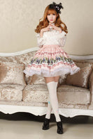 Lolita Sweet Princess Fairy Tale Land Pink Alice's Tea Party Series Short Skirt for Girl