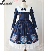 Bedtime Book ~ Sweet Printed Long Sleeve Lolita Dress by Magic Tea Party