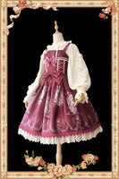 The Long Hair Beauty ~ Sweet Printed Lolita JSK Dress Sleeveless Party Dress by Infanta
