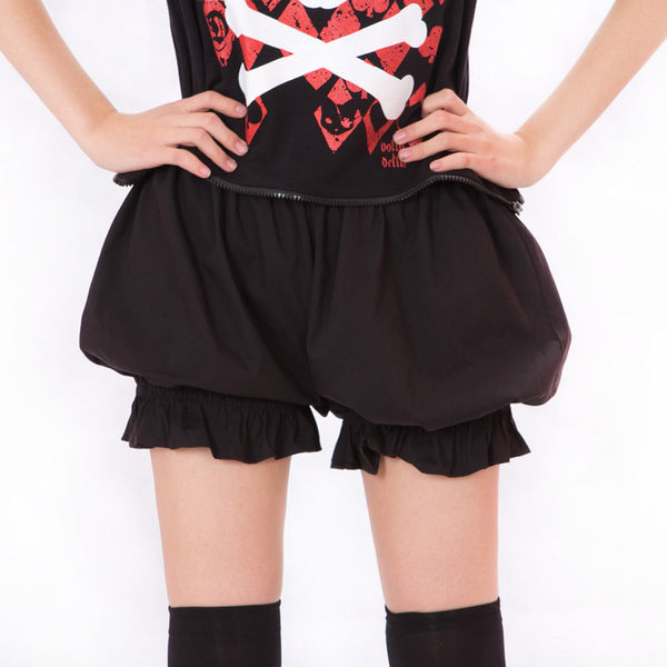 Kawaii Cosplay Shorts Lolita Bloomers Pantalooms for Women White Black Cotton Shorts