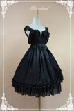 Classic White/Black Jacquard Lolita Empire Dress by Soufflesong