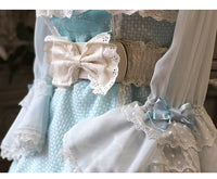 Sweet Elastic Waistband with Bowknot Lolita Stretch Wide Cincher Belt