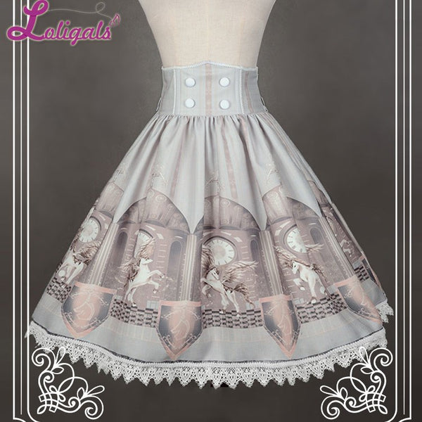 Time Guardian High Waist A Line Lolita Skirt by Soufflesong