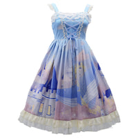 Whale Castle ~ Sweet Printed Lolita JSK Dress Sleeveless Casual Summer Dress