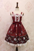 Strawberry and Rabbit ~ Sweet Printed Lolita JSK Dress by Alice Girl