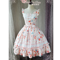 Meow and Orange Sauce ~ Sweet Printed Lolita JSK Dress by Magic Tea Party