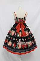 Sweet Strawberry Printed Lolita Casual JSK Dress Summer Midi Dress by Alice Girl Pre-order