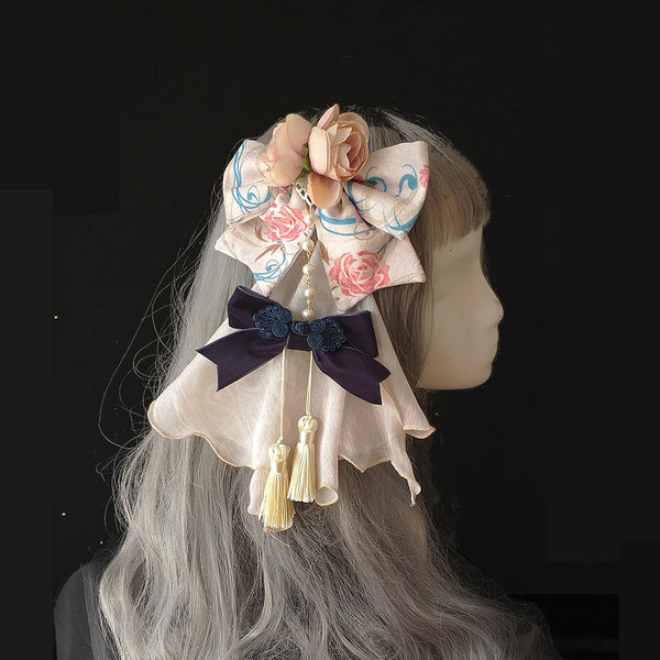 Spring in Pear Orchard ~ Chinese Style Lolita Headdress by Infanta ~ Pre-order