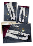 White Knight ~ Gothic Patterned Lolita Stockings Long Cross & Arrow Printed Summer Stockings