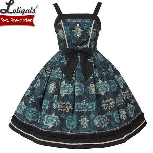 Carol Card ~ Gothic Lolita JSK Dress Sleeveless Party Dress by Alice Girl ~ Pre-order