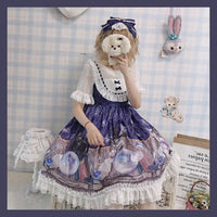 Crystal & Kitten ~ Sweet Printed Lolita Dress Sleeveless Short Party Dress